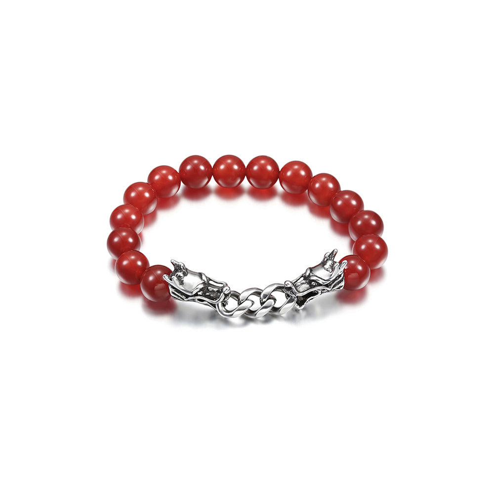 Red Agate Dragon powerful Bracelet