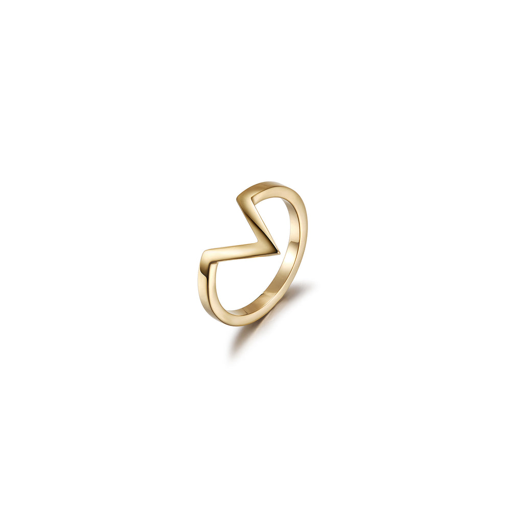 V-Shape Geometric Outline Ring