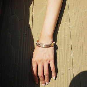 Engravable PAVÉ Hinge Bangle