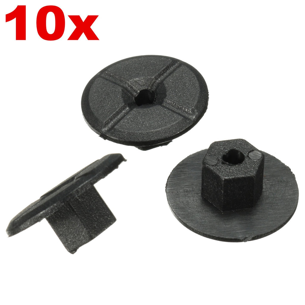 10pcs 4mm Car Fender Flares Mud Flaps Splash Guard Wheel Arch Bumper Panel Fastener Clip  for Mercedes Benz