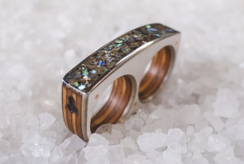Portland Oregon Sticks and Stones Jewelry design organic wood materials custom creations ring design