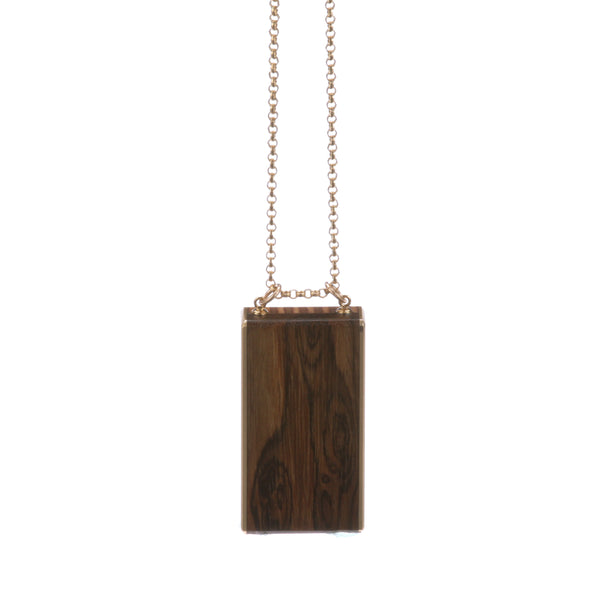 Bacote Wood & Brass Necklace