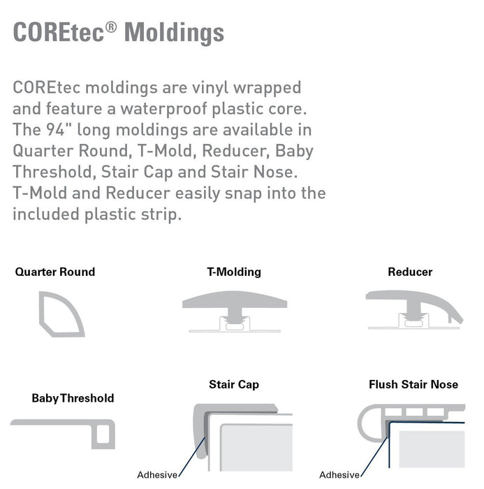 Copy of COREtec Plus 7 Transition Moldings - More Colors B&R: Flooring & Carpeting USFloors