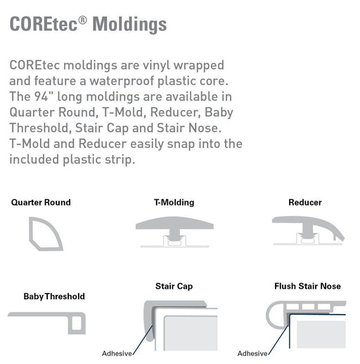 CORETec One Transition Moldings B&R: Flooring & Carpeting USFloors