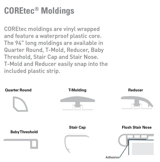 COREtec Plus 5 Transition Moldings - More Colors B&R: Flooring & Carpeting USFloors