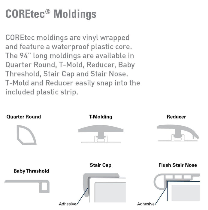 COREtec Plus XL Transition Moldings B&R: Flooring & Carpeting USFloors