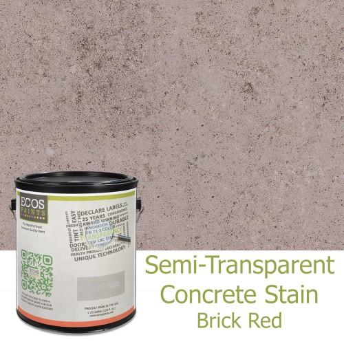 ECOS Paints - Semi-Transparent Concrete Stain B&R: Paint, Stains, Sealers, & Wall Coverings Ecos Paints Gallon Brick Red
