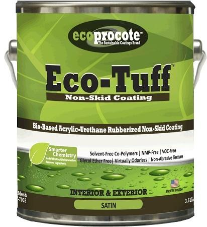 Eco-Tuff High Traffic Rubberized Non-Skid Coating, Gallon