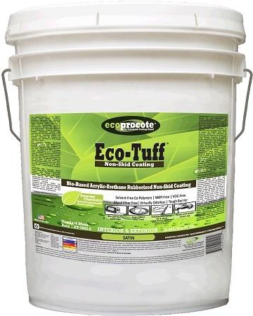 Eco-Tuff High Traffic Rubberized Non-Skid Coating, 5-Gallon