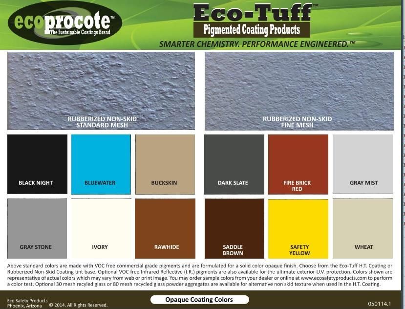 Eco-Tuff High Traffic Rubberized Non-Skid Coating, Gallon B&R: Paint, Stains, Sealers, & Wall Coverings Eco Safety Products, Inc.