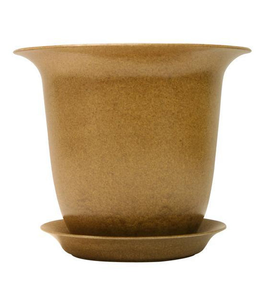 "Fiber Pot & Saucer - Natural 10"" - Case of 4"