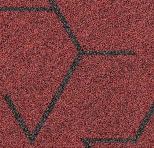 Flotex Modular - Triad - Red 131001 B&R: Flooring & Carpeting Forbo Other