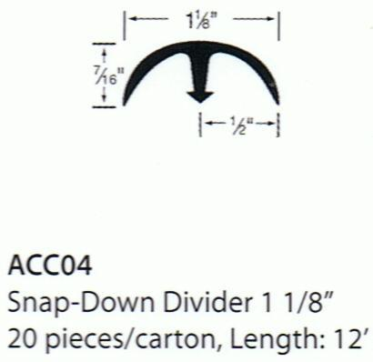 Forbo Snap-Down Divider - 1 1/8""
