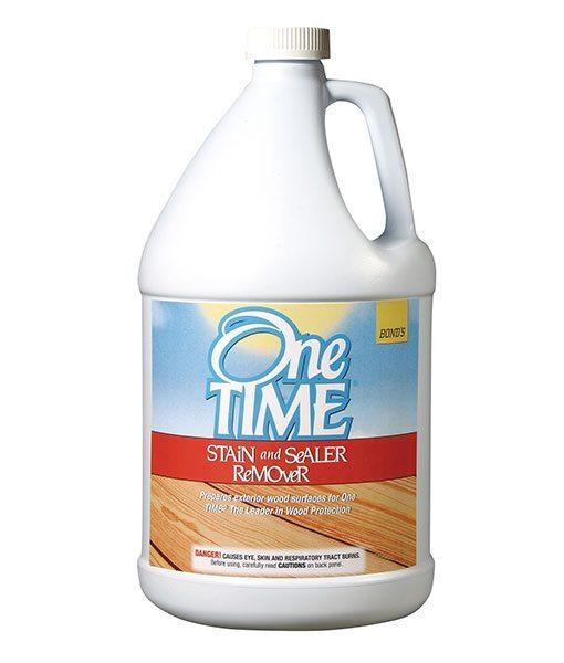 One TIME® Stain and Sealer Remover B&R: Decks & Patios Bond Distributing (One Time)