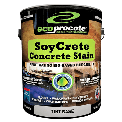 SoyCrete Decorative Concrete Stain, PreTint, 1 Gal (Semi-Transparent) B&R: Concrete Finishing Products Eco Safety Products