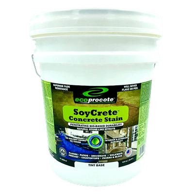 SoyCrete Decorative Concrete Stain, PreTint, 5 Gal (Semi-Transparent) Eco Safety Products