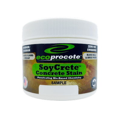SoyCrete Decorative Concrete Stain Sample, 2 Oz. (Semi-Transparent) DwellSmart