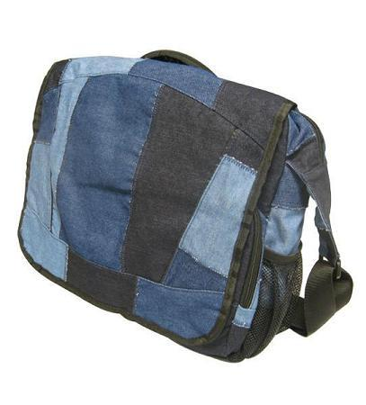 TerraCycle Denim Messenger Bag B&K: School & Art Supplies TerraCycle