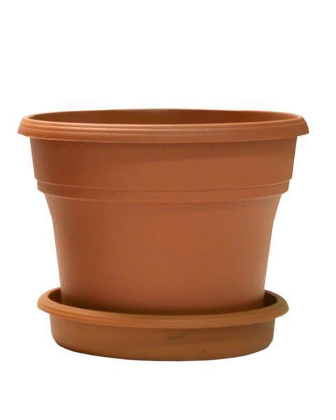 "TerraCycle Recycled Pot & Saucer - 8"" Terracotta, Set of 4"