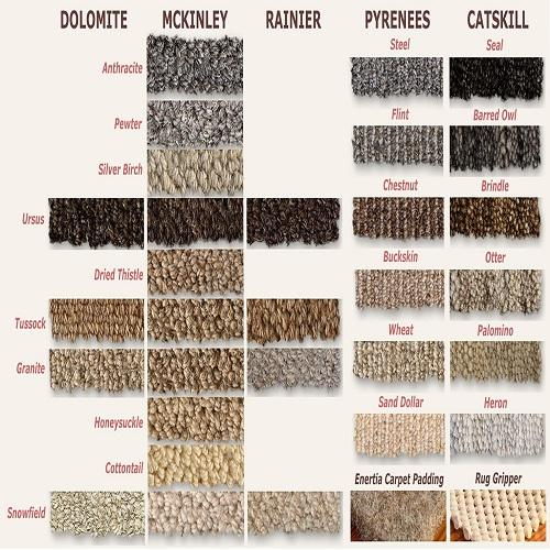 Earth Weave Sample Set B&R: Flooring & Carpeting Earth Weave