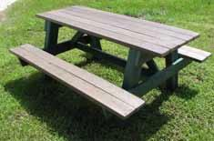 TerraCycle A Frame Step Over Picnic Table H&G: Furniture TerraCycle