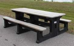 TerraCycle Deluxe Walk Thru Picnic Table H&G: Furniture TerraCycle