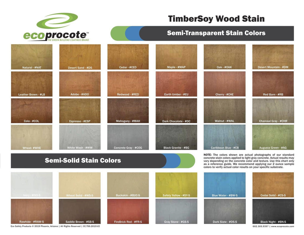 Timbersoy Natural Wood Stain 2oz Sample Dwellsmart