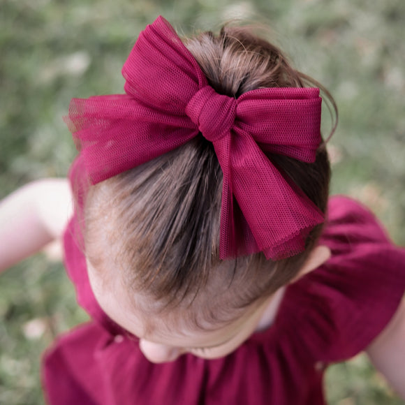 Christmas Tulle Bow