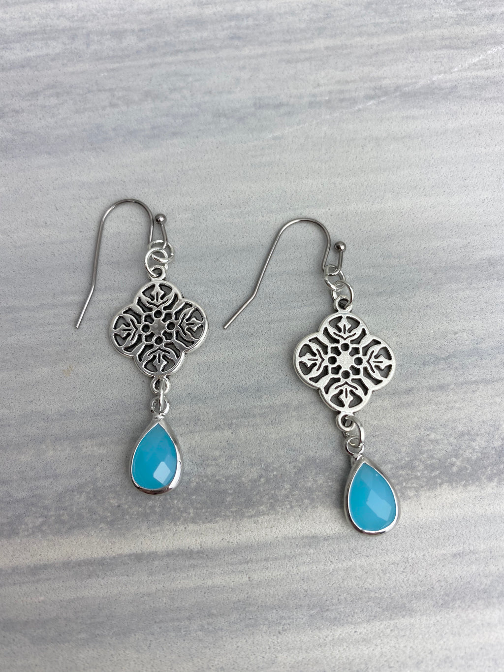 Iced Turquoise Earrings