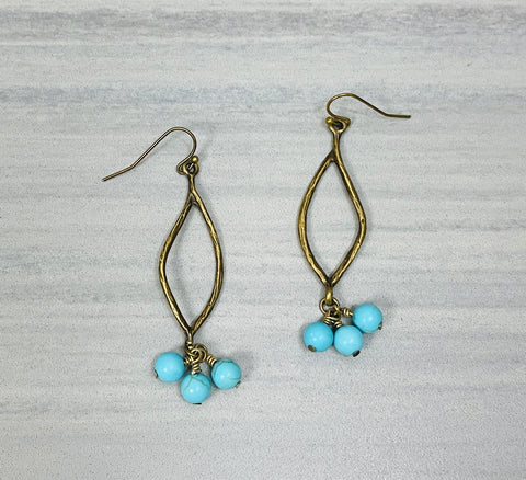 Mint Flare Earrings