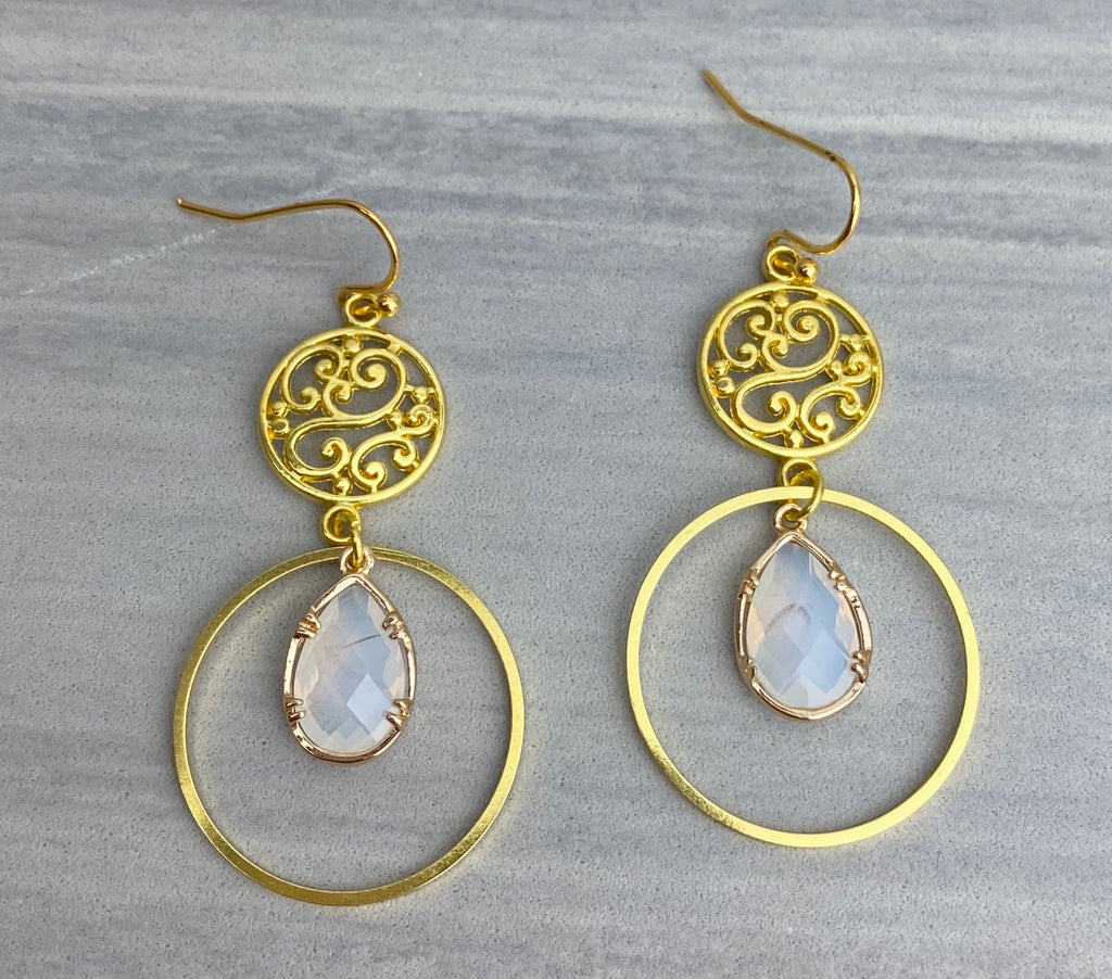 Elegant Opal Earrings