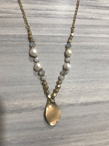 Yellow Drop Necklace