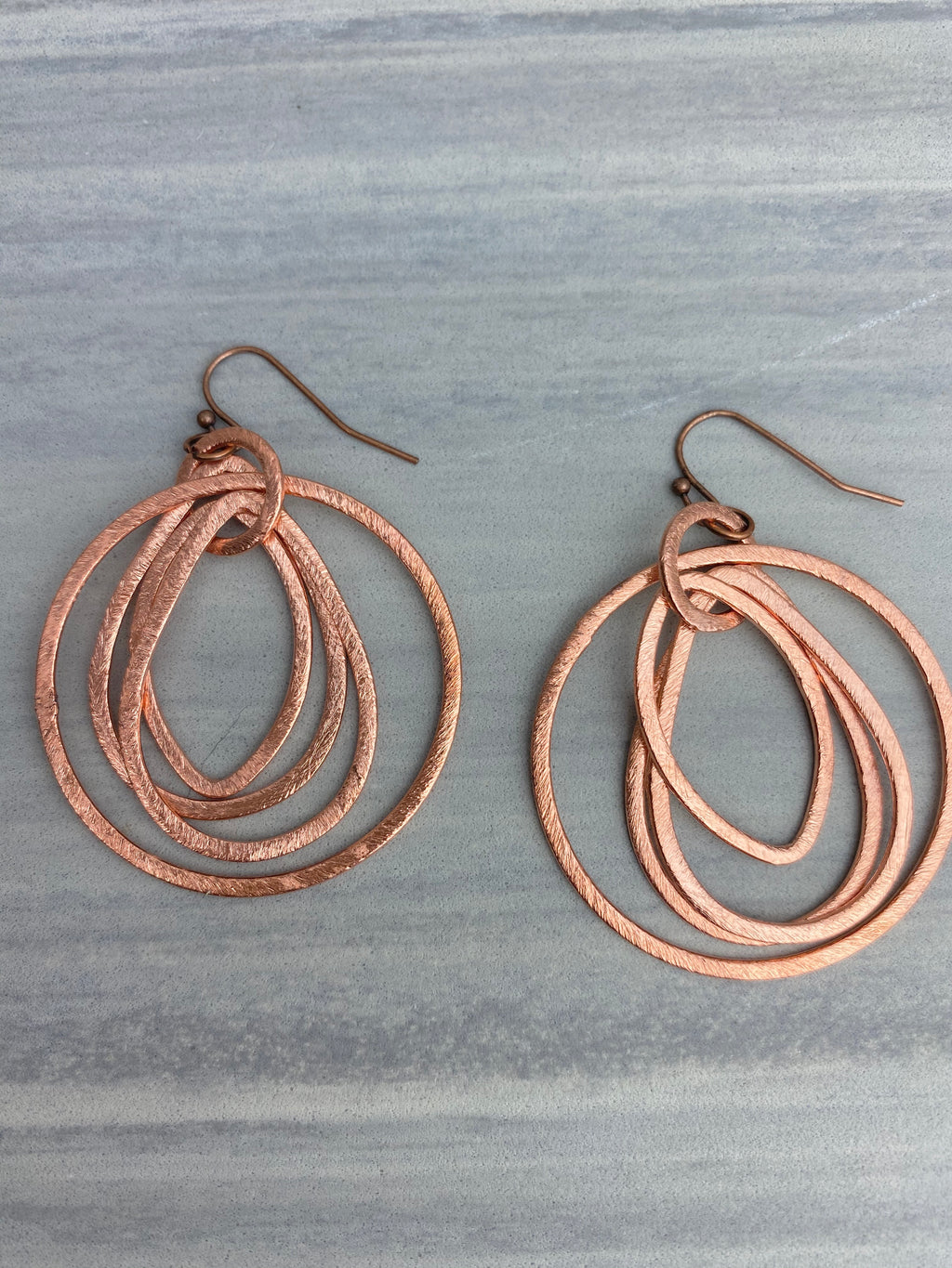 Copper Link Earrings