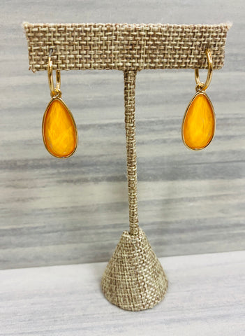 Mustard Teardrop Earrings