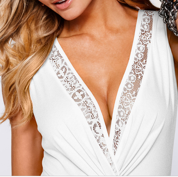 Nursing Deep Lace V With Knot (3719499939900)