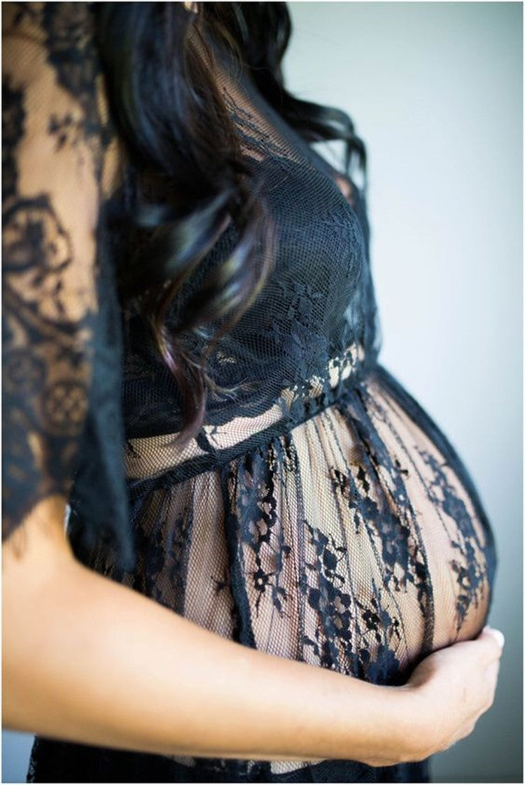 Lace Maternity Photoshoot Dress (4159168938116)
