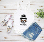 Mom Life Leopard Skeleton Tank