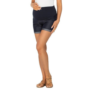 Maternity Denim Look Shorts