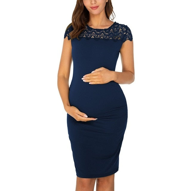 Maternity Lace Summer Dress