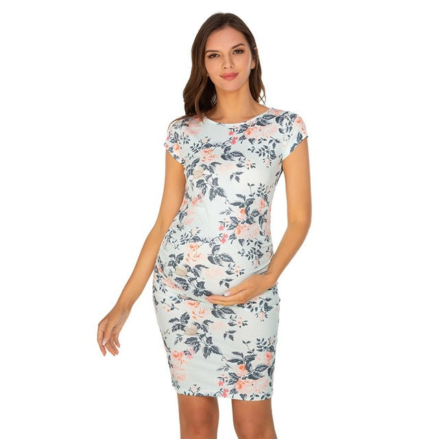 Printed Maternity Summer Dress