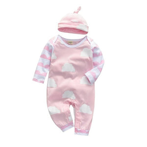 Pink Cloud Romper W/ Hat -2 PC