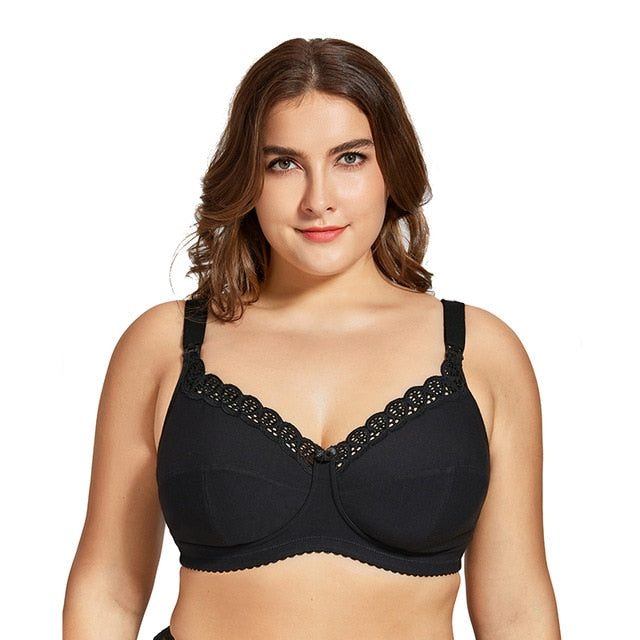 Plus Size Full Coverage Nursing Bra (3729514233916)