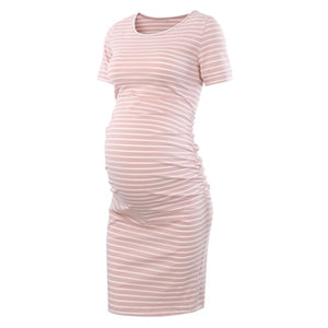 Side Ruched Bodycon Casual Dress (2520807997500)