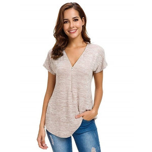Short Sleeve Nursing Top (3734371827772)