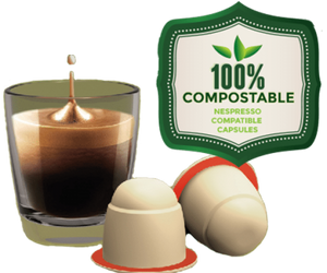 Sticksology Blend With Added Vanilla Flavouring Nespresso Compatible Coffee Compostable Capsules