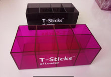 Load image into Gallery viewer, T-Sticks of London Magenta / Pink acrylic stand kitchen organiser for coffee pods and teasticks (no tea or coffee)