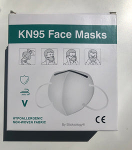 STICKSOLOGY box pack of 10 Full nose & mouth Face Covering Mask for personal protection (FFP2 grade)