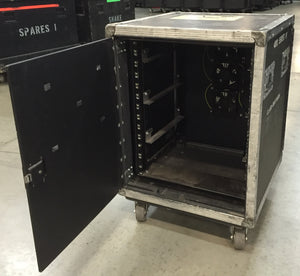 12 space electronics rack with folding door