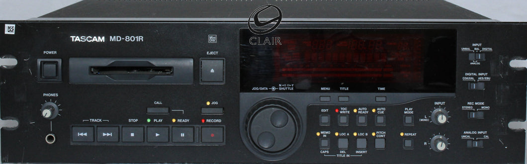 Tascam md - 801r mini disc player/rec