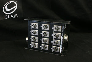 12-Channel disconnectable Stagebox with 2 connectors
